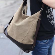 Seau 2015 Unisexe toile patchwork zipper grand casual fourre-tout d'embrayage sac à main femmes messenger sacs bolsa carteira masculina sac 5
