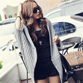 2016 nova lady BianFuShan irregular xaile tamanho longo solto coreano revestimento da camisola