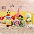 Kawaii Spongebob Juguetes de Peluche Bob Esponja Patricio Cangrejo Plankton Pulpo Caracol Juguetes De Peluche Bob esponja Muñeca Juguetes Regalo de Los Niños