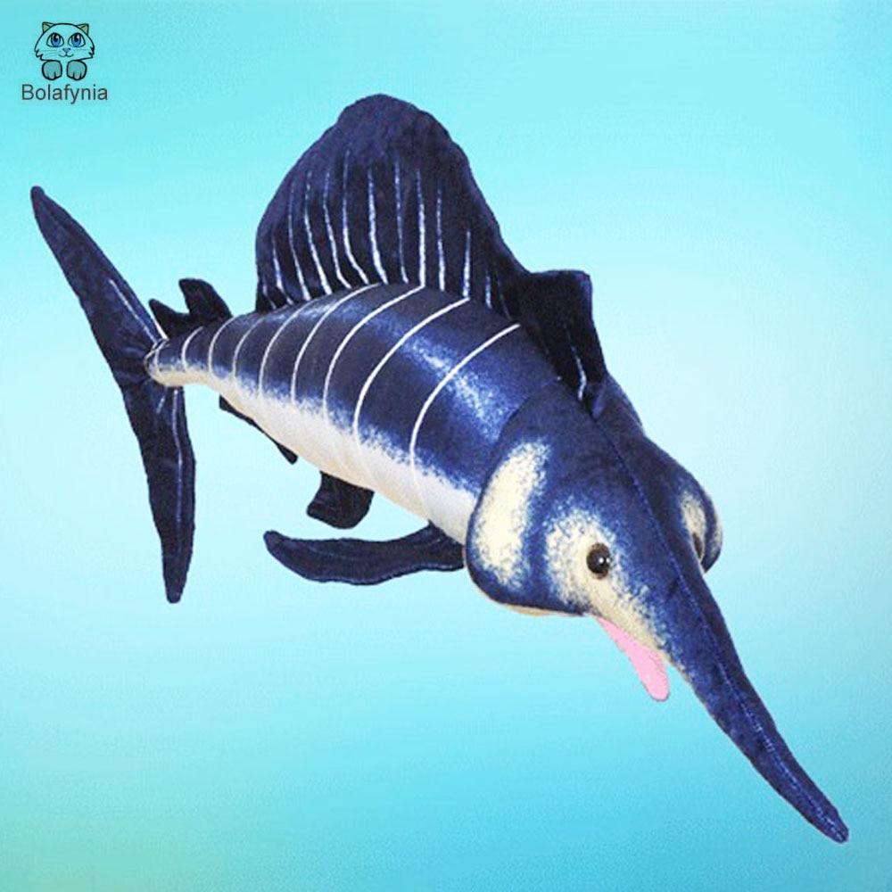 BOLAFYNIEN Barnpussad fylld leksak Stor svärdfisk marinsimulering - Dockor och gosedjur