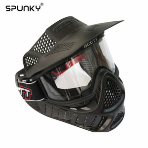Image 1 - High Strength Paintball Mask or Airsoft Mask with Double Lens Goggle