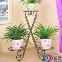 Wrought iron floor flower pot stands vase stand multi layer plant stand