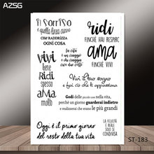 AZSG language of many countries words style Clear Stamps for DIY Scrapbooking/photo Album Decorative Craft Stamp Chapte