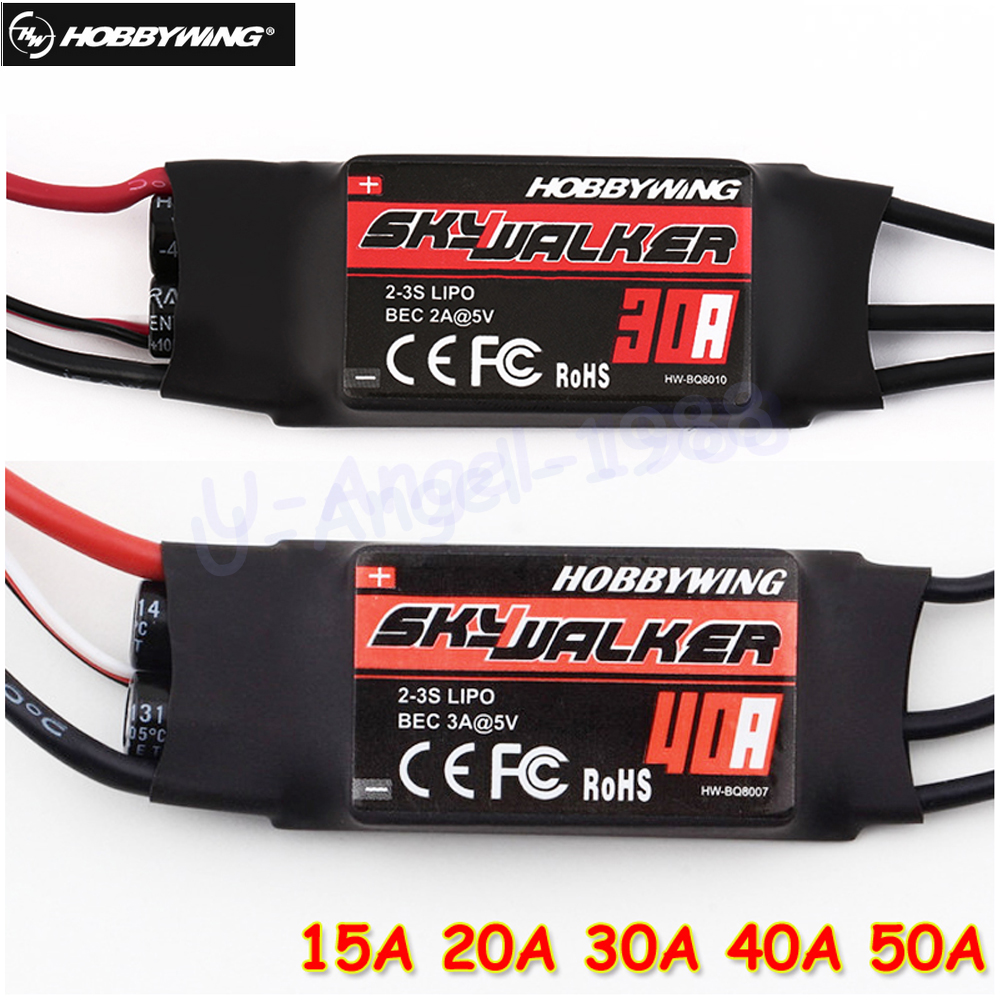 1pcs Hobbywing Skywalker 15A 20A 30A 40A 50A 60A 80A ESC Speed Controler With UBEC For RC FPV Quadcopter RC Airplanes Helicopter hobbywing skywalker 20a brushless esc speed controller with ubec