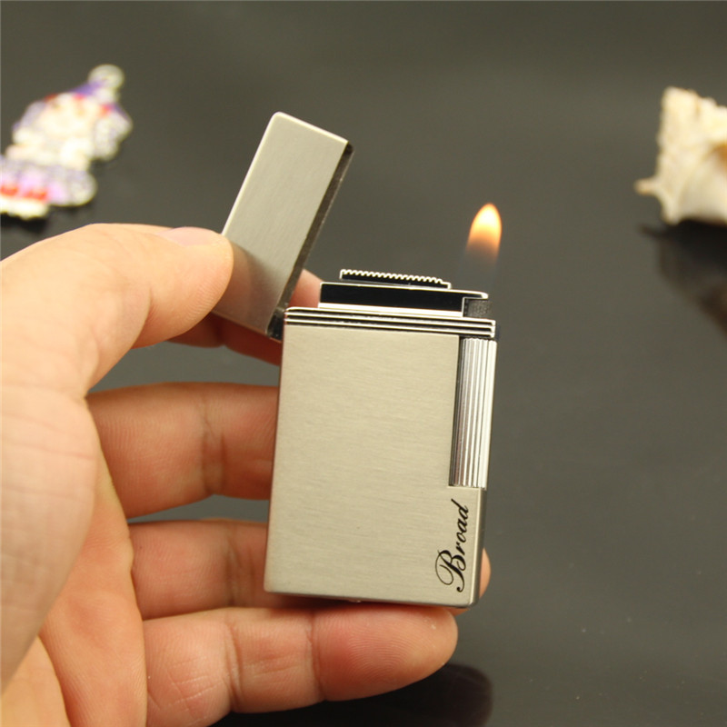 contracted smooth, flat steelskin sounds audible words classic, grinding wheel flame lighter,Smoking Accessories