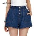 Ailoria Летние Короткие Джинсы Плюс Размер 2016 Женщины Упругие Высокой Талией Джинсовые Шорты Свободные Женщины Super Cool Короткие Pantalon Femme