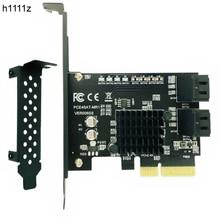 Marvell 88se9230 sata pci express 4 portas cartão de expansão sata controlador pci e raid cartão pci e para sata3.0 adaptador conversor cartão