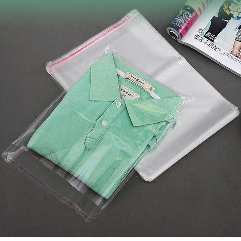 Large Size Resealable Cellophane OPP Poly Bags Self Adhesive Plastic Bag Self Adhesive Seal Bag Clear Resealable Cellophane