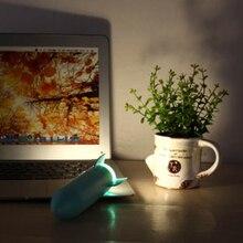 Human Sensing Rocket Shape Wall Night Light USB Charging Smart Home Bathroom
