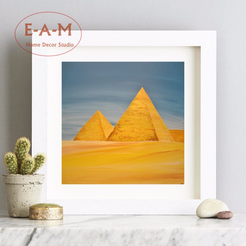 Egypt Pyramid Artwork Canvas Art Print Painting Poster Wall Pictures ...