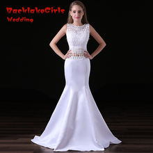 BacklakeGirls Mermaid Sleeveless Prom Dresses Floor-length