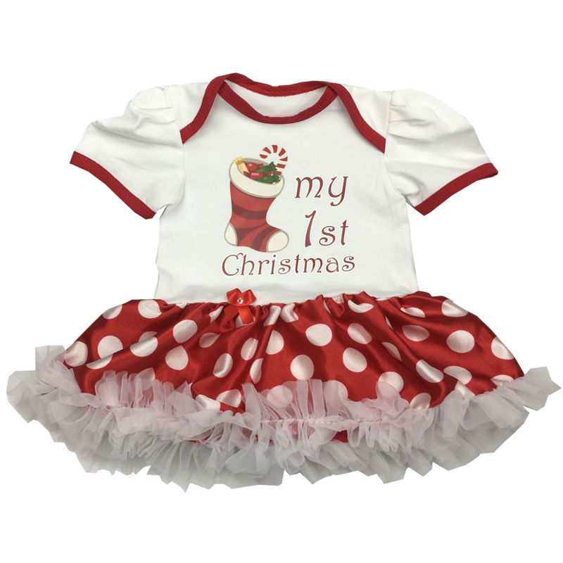 New born clothes baby girl clothes Christmas baby romper baby girl clothing infant clothing bebe toddler Tutu Dress Outfits