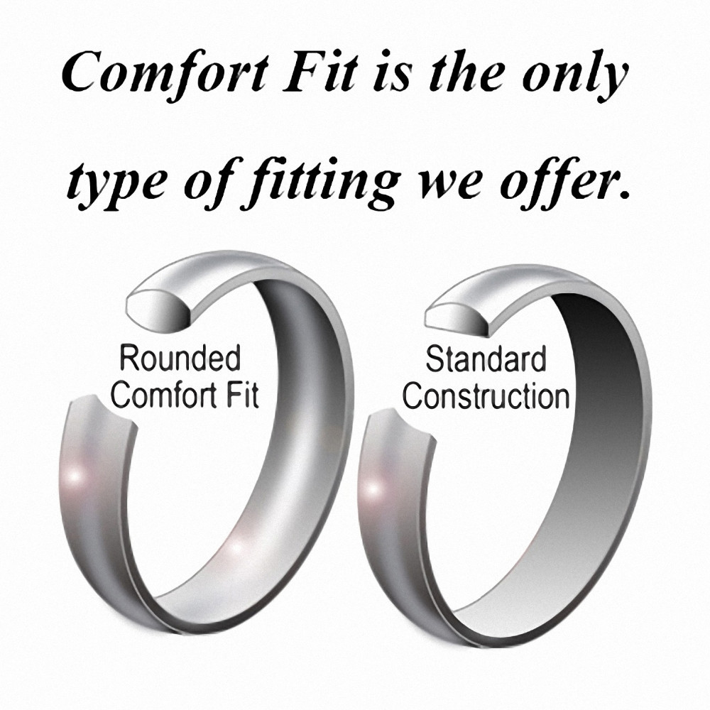 6mm Unique Tungsten Comfort Fit Wedding Bands Multi Faceted High