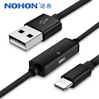 NOHON Audio Charger Earphone Adapter 2 in 1 Cables For iPhone X 8 7 6 6S Plus iOS 9 10 11 Lighting Splitter Fast Charging 1.2M