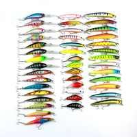 Minnow 43 pcs/lot leurre de pêche à la mouche Set chine appât dur Jia leurre Wobbler carpe 6 modèles matériel de pêche en gros