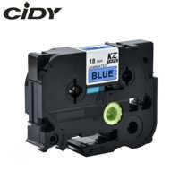 CIDY 100pcs laminated tze tape Compatible TZe541 TZe 541 TZ-541 TZe-541 TZ541 TZ 541 black on blue for Borther Label Printer
