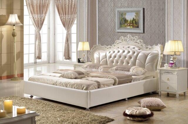 Mobili camera da letto king size letto in pelle sintetica made in ...