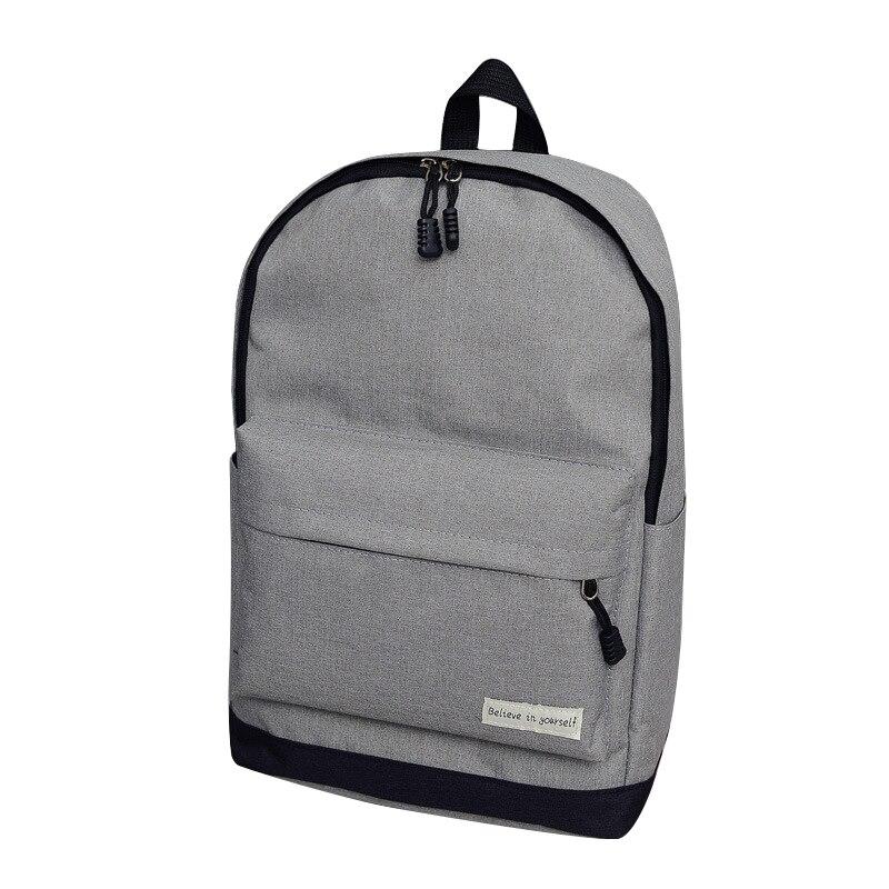 Для мужчин рюкзак Человек Популярные однотонные Цвет рюкзак для женщины школьная сумка Колледж ветер небольшой свежий моды Для мужчин рюкз…