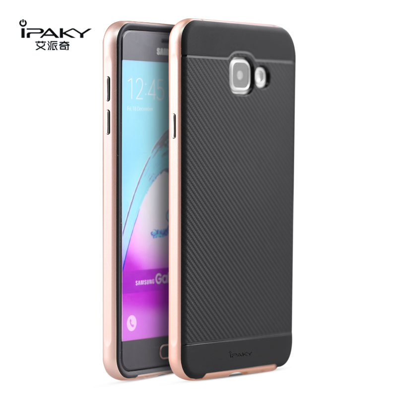 online store 1fa7f 19564 US $4.99 |iPaky For Samsung Galaxy A7 2016 Case Luxury Armor Hybrid  Silicone Rubber Back Cover with Frame For Samsung A7100-in Fitted Cases  from ...