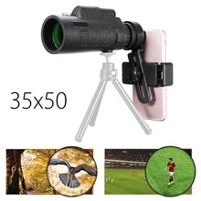Big discount 35×50 BAK4 HD Zoom Phone Camera Lens Monocular Telescope + Universal Holder Clip Outdoor for Phone Mobile photography