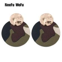 Neefu wofu кожаные серьги в виде капли воды большие из сплава