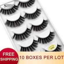 SHIDISHANGPIN faux cils naturels pour les yeux longs, aspect 3d, moelleux, maquillage, 100% sans cruauté, G800, 50 paires