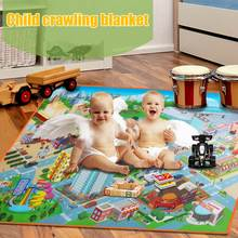 Children Kids Baby Crawling Blanket Carpet Rug City Life Learn To Walk Road Traffic Play Mat Home @ AN88(China)