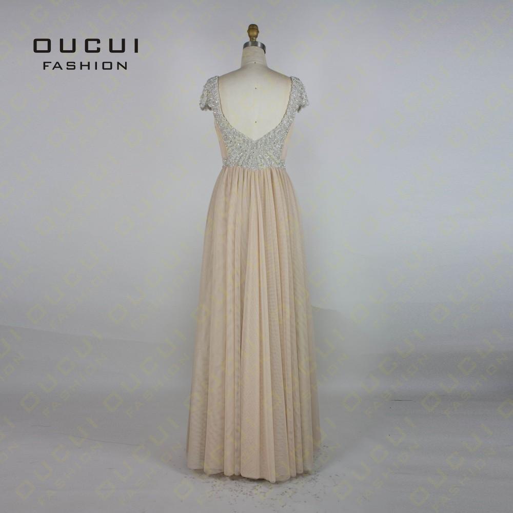 Tulle Fabric Pleat With Beading Handwork Bridesmaid Mermaid Long Prom Dress With Stones OL102785 vestido de festa de casamento 10