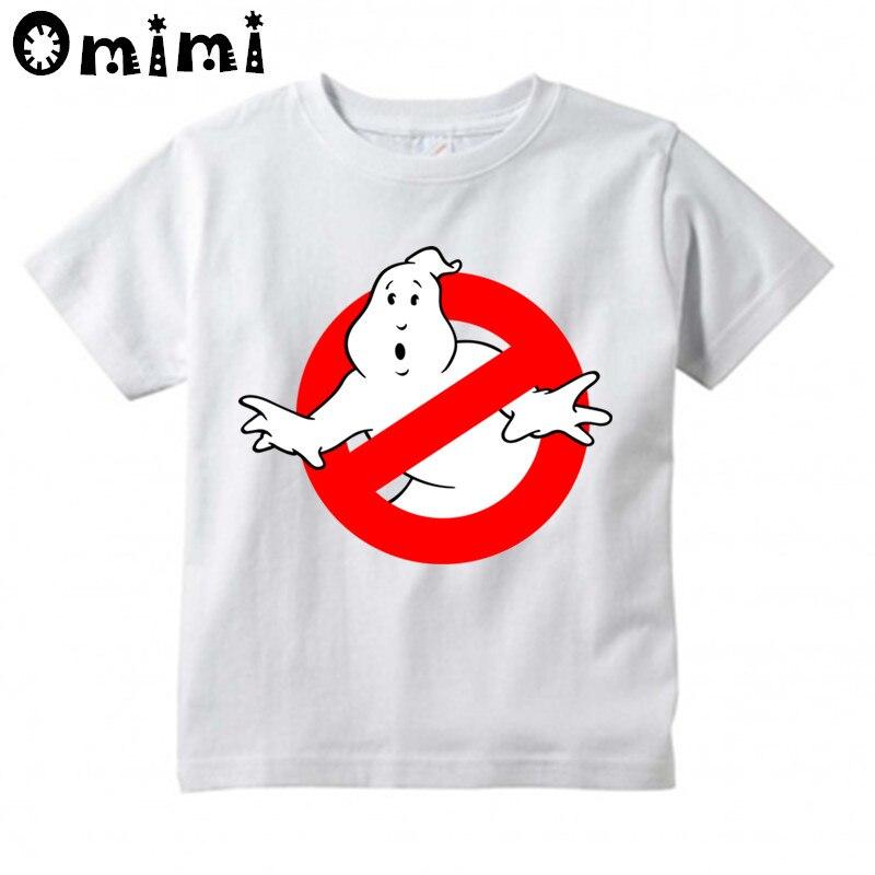 Children Ghostbusters Cartoon Printed T Shirt Boys and Girls Great Casual Short Sleeve Tops Kids Cute T-Shirt stx big boys raglan t shirt and athletic short