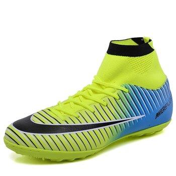 Leoci niños tobillo fútbol Botas Niños Niñas Turf sole cornamusas interior Zapatos  Fútbol tacos voetbalschoenen chaussure de Foot 1c33f9fc8f1e0