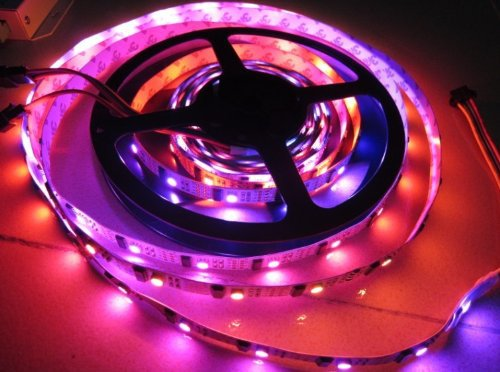 5M WS2801 Digital LED Strip 5V RGB LED Light Magic Dream Color 32 LEDs/m 32IC Individually Addressable No Waterproof led lights