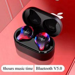 Miniaturowe słuchawki z Bluetooth Port bezprzewodowy bezprzewodowe słuchawki douszne słuchawki douszne Bluetooth 5.0 wodoodporna ucho bezprzewodowe pąki słuchawki