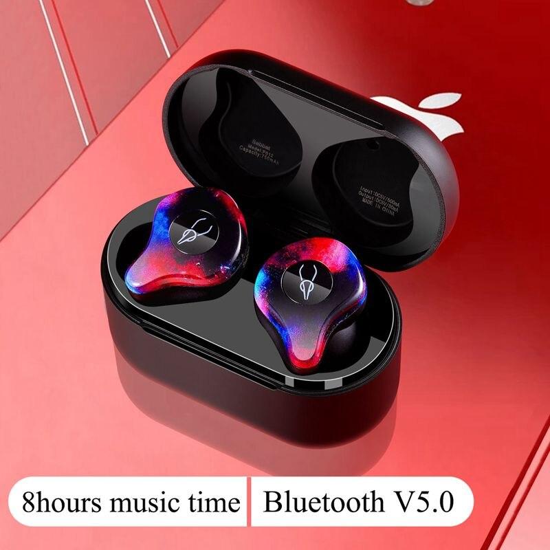 Nouvelle Mini BLuetooth Écouteur Port Sans Fil Sans Fil Écouteurs Stéréo dans l'oreille Bluetooth 5.0 Étanche Sans Fil des écouteurs écouteurs