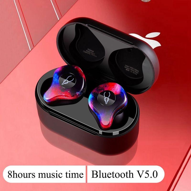 Nuovo Mini BLuetooth Orificio del Trasduttore Auricolare Senza Fili Wireless Auricolari Stereo in ear auricolari Bluetooth 5.0 Impermeabile Senza Fili del Trasduttore Auricolare