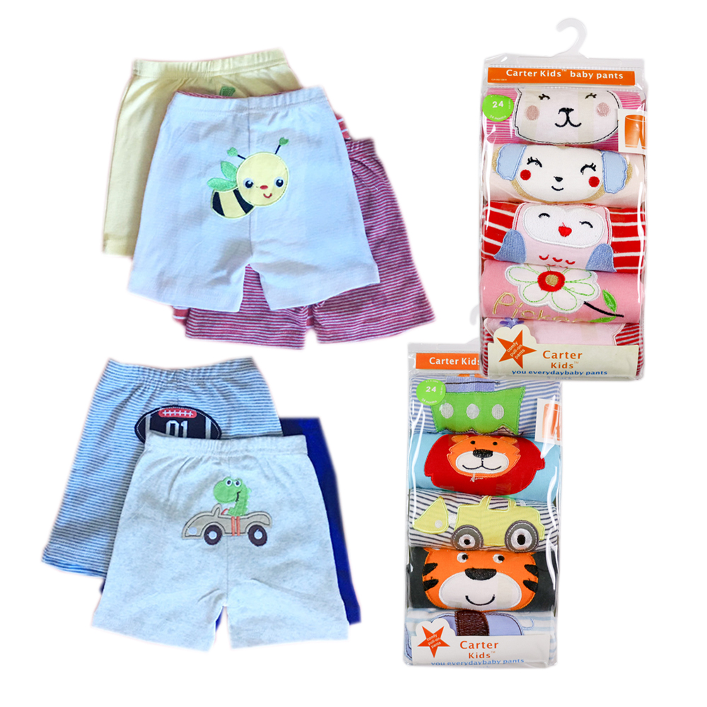 5pcs/pack Cotton Baby Shorts Cute Animals Style Summer Infant trousers in kids Boys Girl's shorts pants baby's Clothing