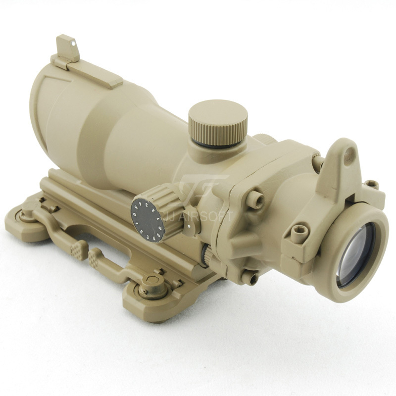 JJ Airsoft ACOG Style 4x32 Scope Red/Green Reticle w QD Mount (Tan) Full Illumination FREE SHIPPING спойлер капота 2190 гранта