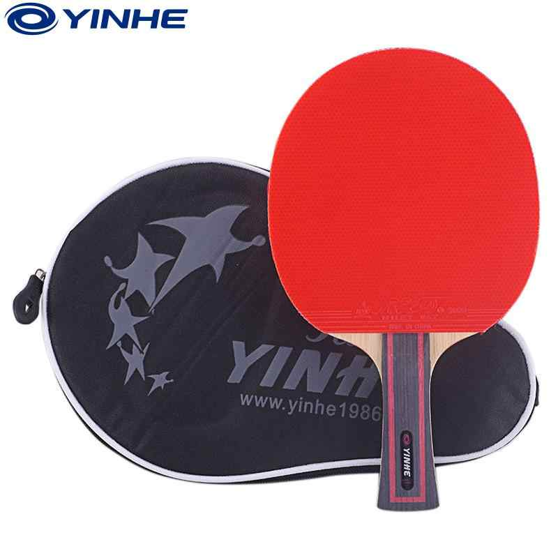 Genuine YINHE Galaxy 6 star Table tennis racket finished rackets racquet sports pimples in rubber ping pong paddles