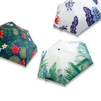 Small Man Parasol Umbrellas Rain Woman Ultra-light mini umbrella black coating Sun shade lady pocket umbrella paraguas CYSC-1