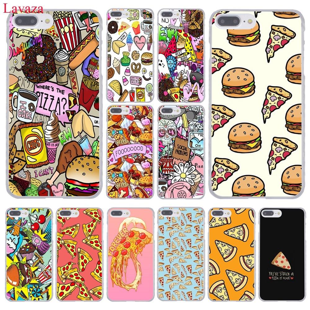 Lavaza модные фишки пиццы пища гамбургеры жесткий чехол для телефона Apple IPhone 8 7 6 6 S Plus X 10 5 5S SE 5C 4 4S