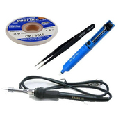 Free Shipping Soldering Iron Kits Including Soldering Iron CP 3015 Goot Wick ESD 10 ESD Tweezer
