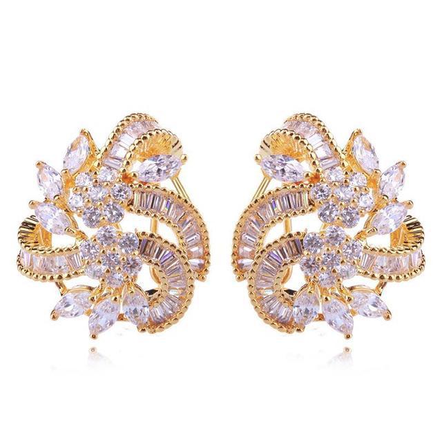 Novas mulheres da moda brincos melhor preço de atacado top quality micro pave definir aaa cz latão de metal vestido de casamento de luxo jóias