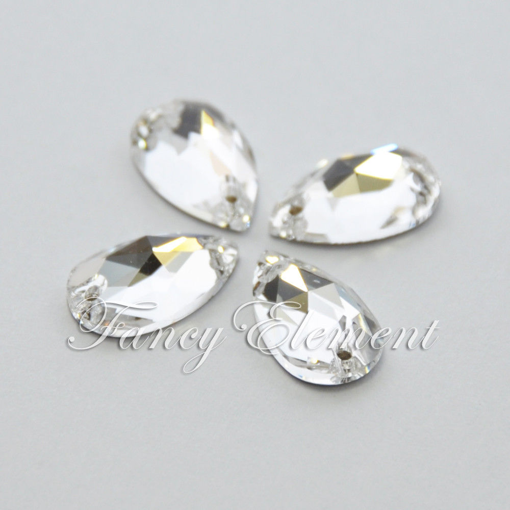 Swarovski Elements (3230) Tear Drop 12x7mm Crystal Clear (001) 6 pieces Sew  On Stone Rhinestones-in Rhinestones from Home   Garden on Aliexpress.com ... c7fa5a263e1b
