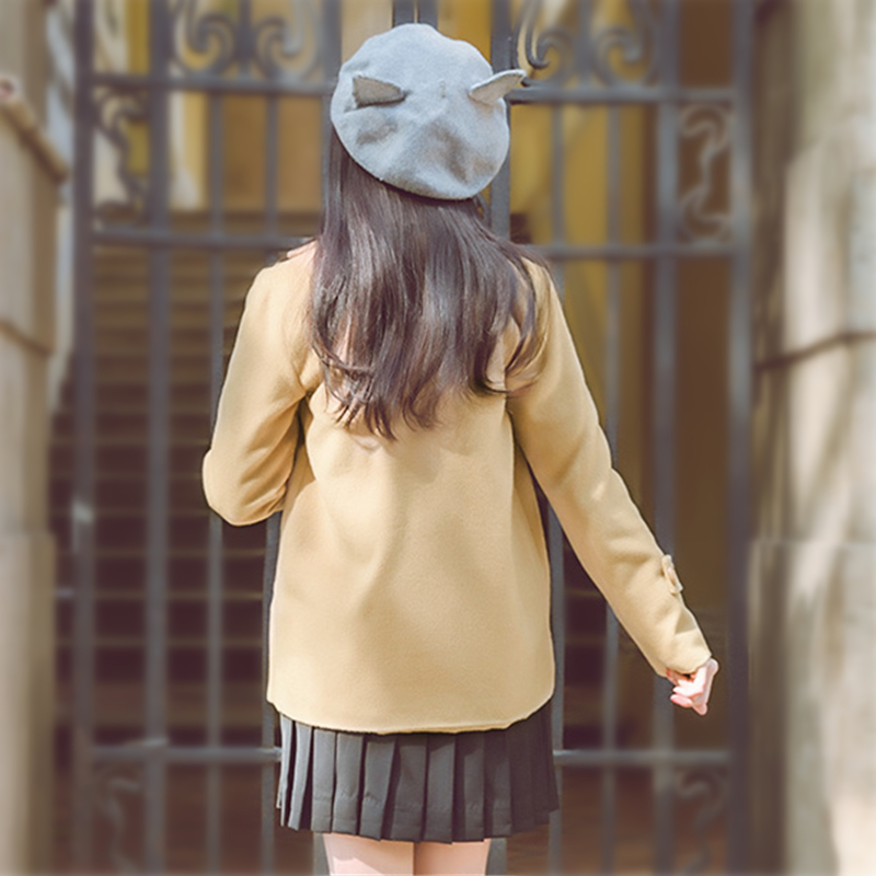 Of Bouton Navy Femmes the Court Automne Hiver Casaco 2018 Solide Casual gray Veste Femme Feminino Color Manteau Camels Guuzyuviz nPqTF1xSO