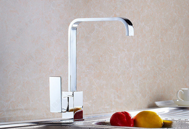 Manufacturers Free Shipping Kitchen Faucet Sink Dish Basin Hot And Cold  Faucet Square Flat Tube Can