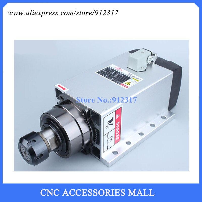 air cooled spindle motor 5kw ER32 18000rpm flange Spindle motor, wood engraving and milling spindle motor