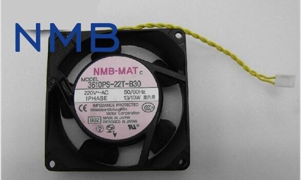 NMB cooling fan 3610PS-22T-B30 220V instrumentation axial fan 92*92*25mm free shipping nmb 5915pc 22t b30 17238 220v 40w for yaskawa inverter fan server cooling fan
