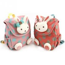 Cartoon cute animal bag rabbit plush backpack children schoolbags for girls kindergarten Toddler softback