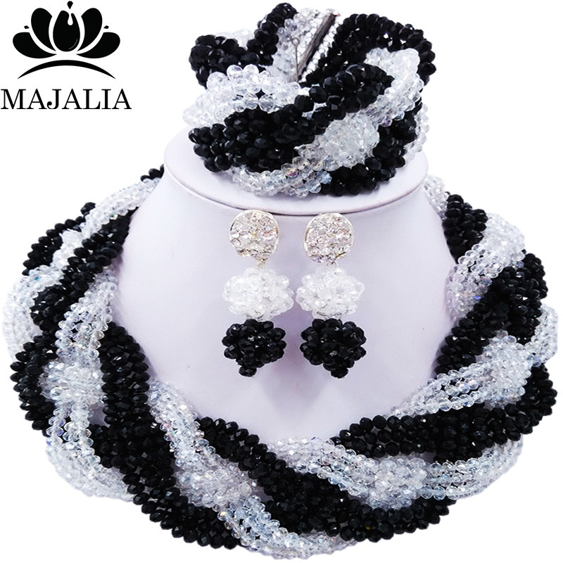 Majalia African Classic Women Jewelry Set Black Transparent Nigeria Wedding Jewelry Sets 12CB0021Majalia African Classic Women Jewelry Set Black Transparent Nigeria Wedding Jewelry Sets 12CB0021
