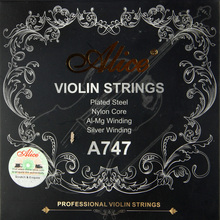 Alice A747 nickel-plated High-carbon steel Nylon core Aluminum Alloy wound silver wound Violin Strings 4pcs/set