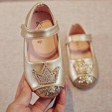 Модная Корона новых детских сандалий новая детская обувь Летние кожаные сандалии для девочки розовый# G7